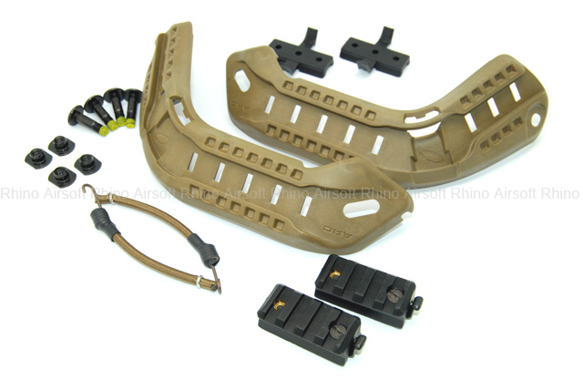 Ops-Core 2010 ACH-ARC Kit (Accessory Rail Connector) with Bungees