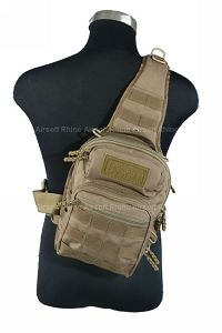 View Pantac Weevil Shoulder Bag (Coyote Brown / Cordura details