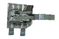 View Pantac MOLLE Style Leg Panel with Holster (ACU / Cordura) details
