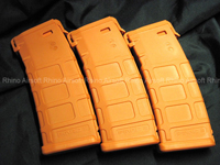 Magpul PTS PMAG M Version (Mid Cap 120 Rounds) - Orange