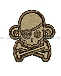 View Mil-Spec Monkey - SkullMonkey Pirate Patch in Dese details