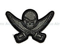 View Mil-Spec Monkey - Pirate Skull Diecut in ACU-Dark details