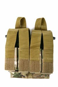 View Pantac Molle M16 Double Mag & 9MM 4-Mag Pouch with Hard Insert (Crye Precision Multicam / Cordura) details