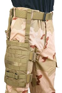 View PANTAC MOLLE Upright Drop Leg Panel (Khaki / Cordura) details