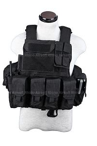 View PANTAC Force Recon Vest Land (Black / Small / CORDURA) details