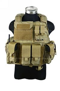 View PANTAC Force Recon Vest Land (Khaki / M / CORDURA) details