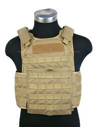 View Pantac Molle Tactical Plate Carrier Full Set (Khaki /  Medium / Cordura) details